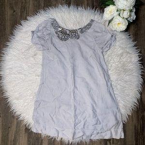 • BCBG MaxAzria Jeweled Neckline Tunic Dress •